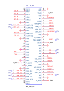 TTGO T-PCIE mPCIe Connector Pinout Schematic