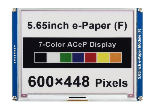 5.65-inch 7-color e-paper display