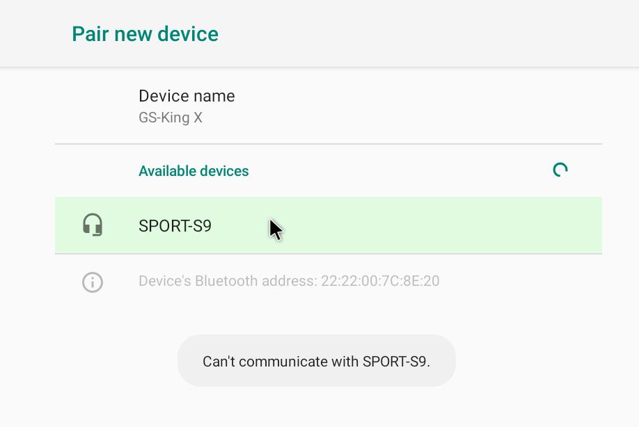 Bluetooth can't communicate