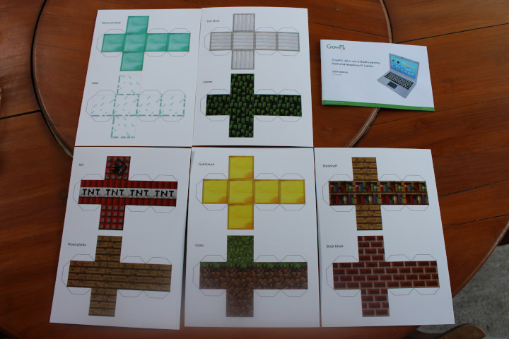 CrowPi2 User Manual Minecraft carton paper