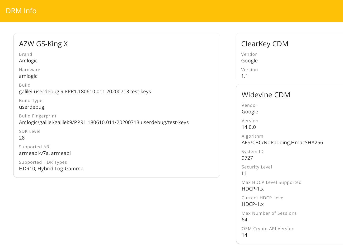 DRM Info