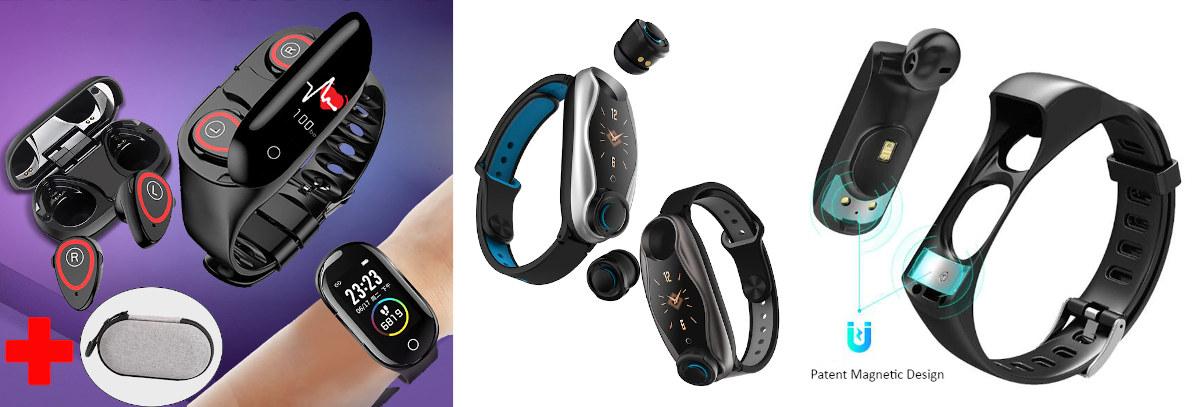 Fitness trackers earphones