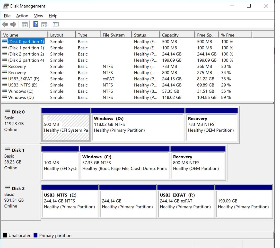 ODYSSEY-X86J4105 Disk Management
