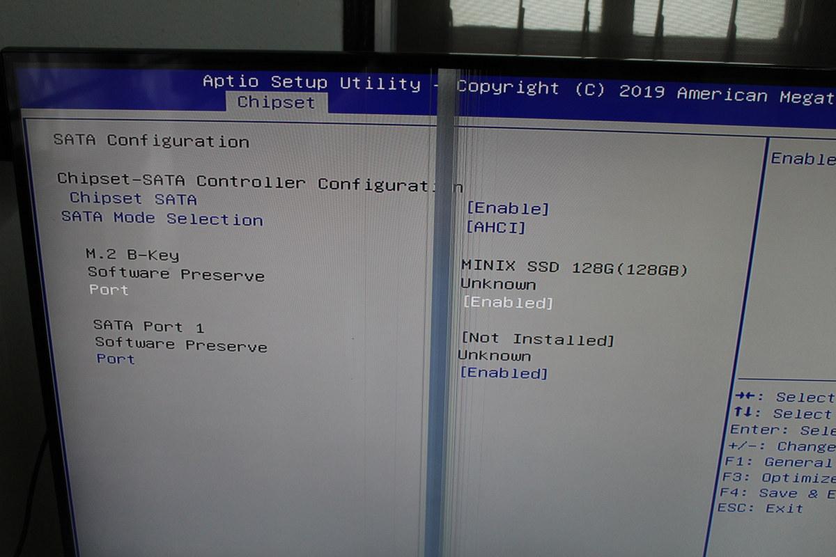 ODYSSEY-X86J4105 SATA BIOS Configuration