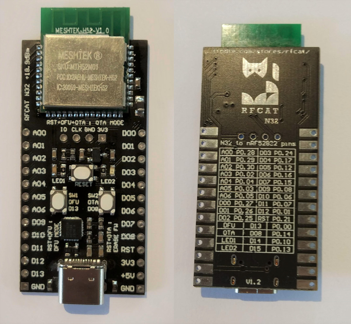 RFCat N32 Long Range Bluetooth Board