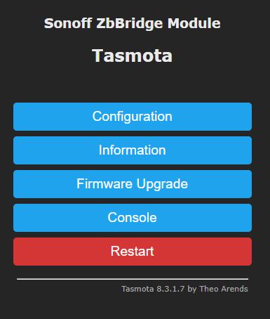 Tasmota Sonoff ZBBridge Module