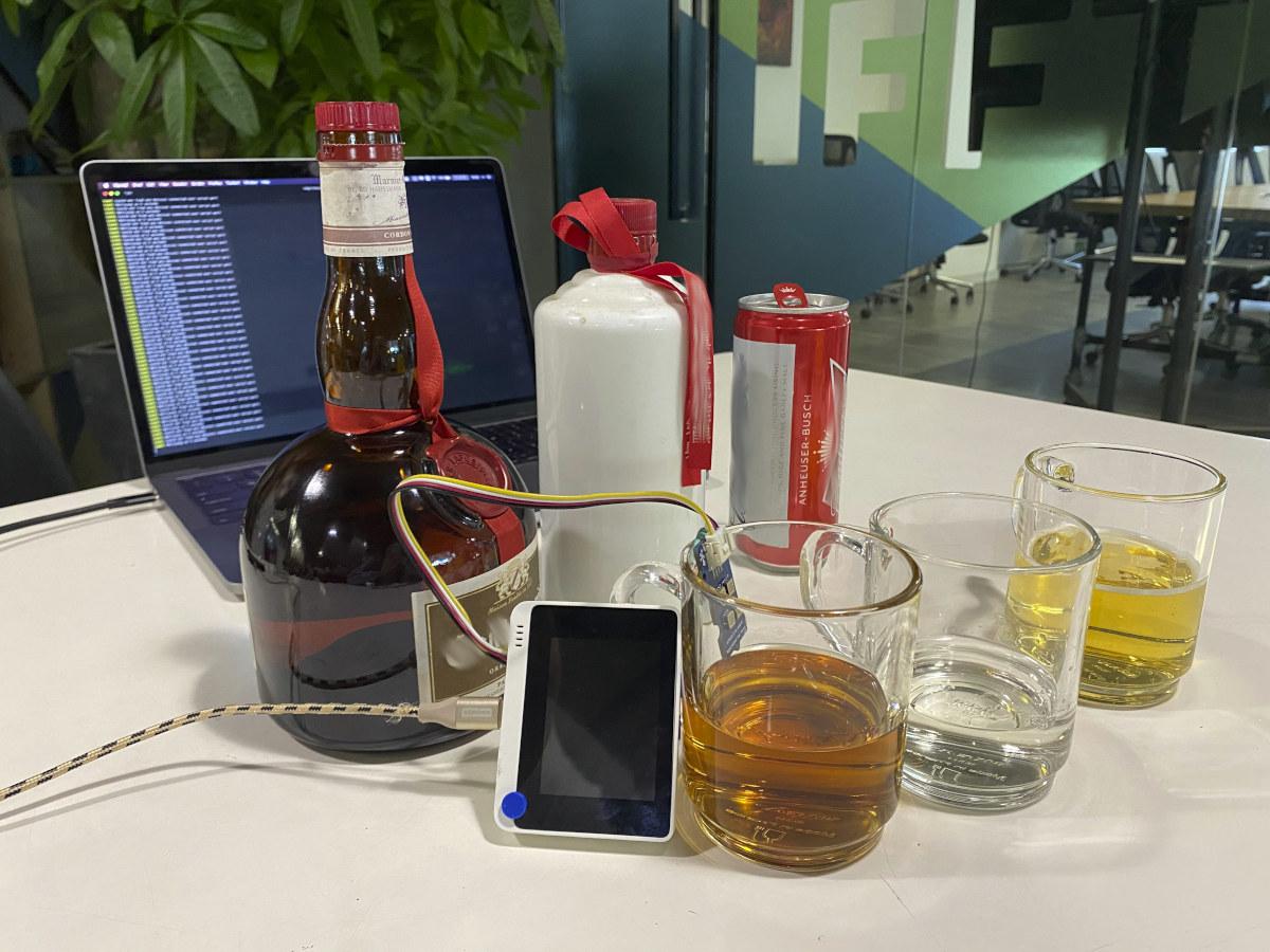 Wio Terminal Gas Sensor Alcohol detection