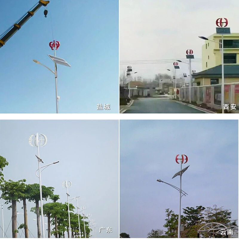 compact wind turbine for city lights