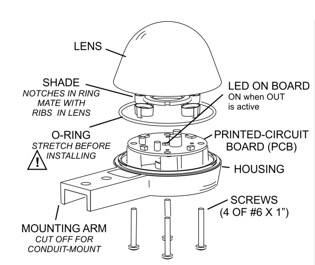 optical rain guage diagram