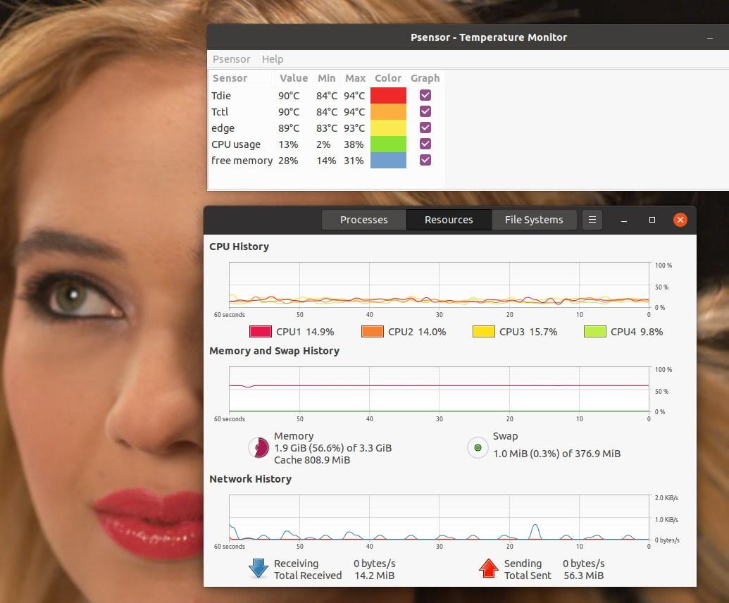 4K Kodi AMD Ryzen Embedded CPU Temperature