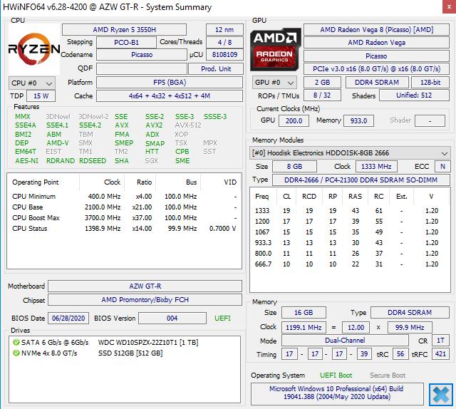 AMD hwinfo