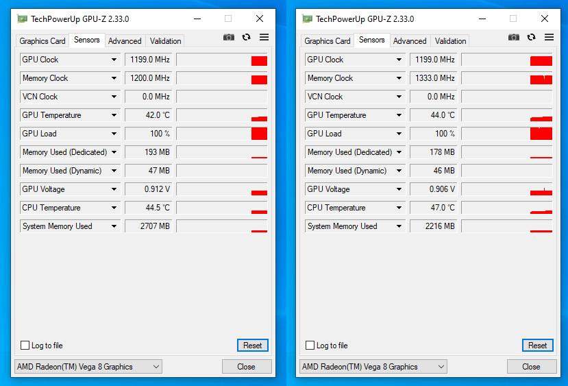 GPU-Z Memory Clock