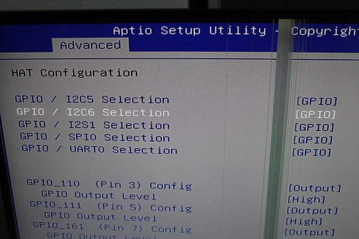 HAT Configuration BIOS GPIO