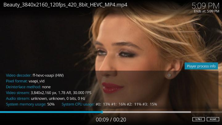 Kodi 4K H.265 AMD Ryzen Embedded