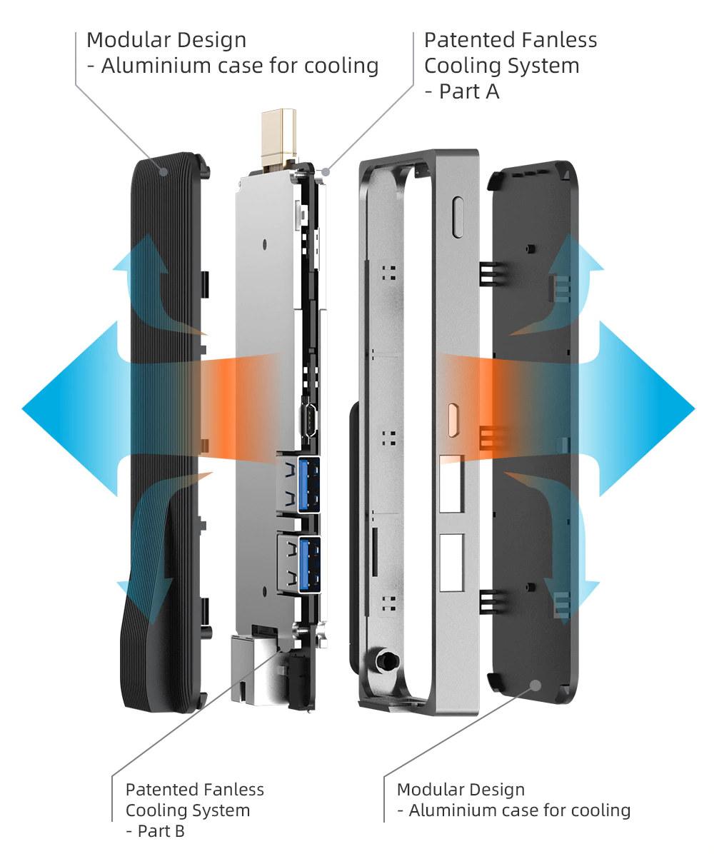 MeLE PCG02 GLK Fanless design