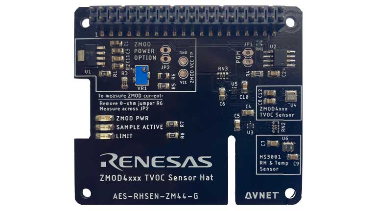 Renesas ZMOD4410 Indoor Air Quality HAT for Raspberry Pi (VOC)