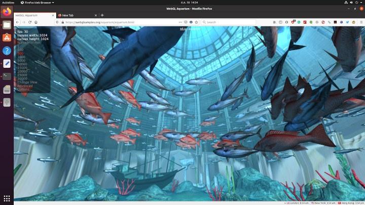 WebGL Aquarium-Ryzen Embedded R1606G