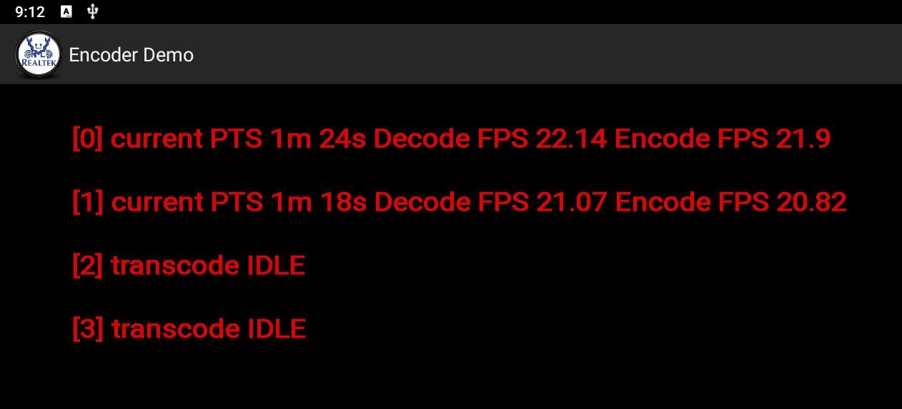 realtek encoder demo