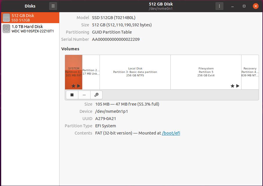 ubuntu disk management Beelink GT-R