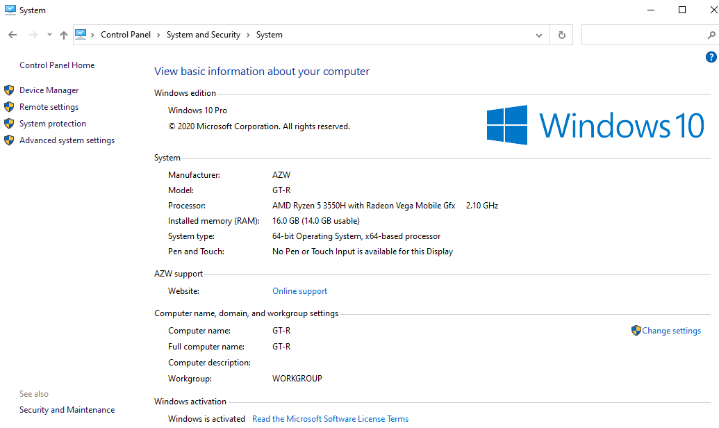 windows 10 system info