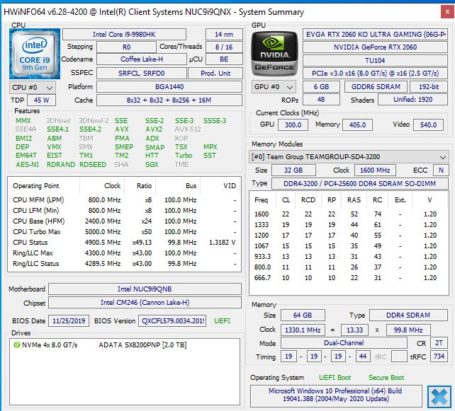 memory running at 2666mhZ