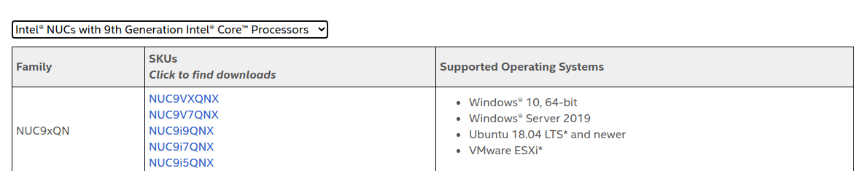 Intel-NUC9-Supported-OS-AU