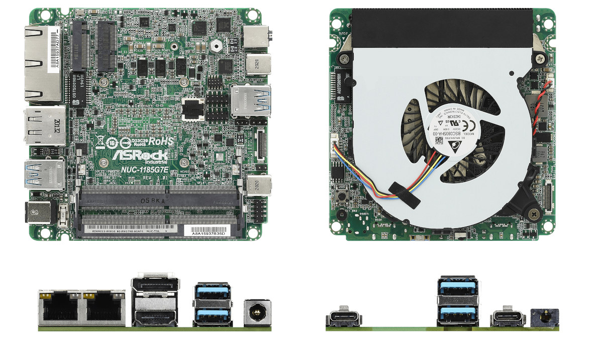 Intel Tiger Lake UP3 NUC Embedded SBC