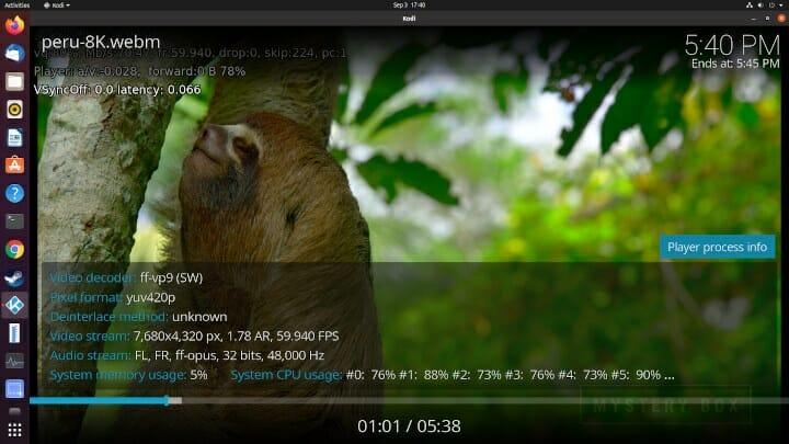 Ubuntu kodi 8K Video