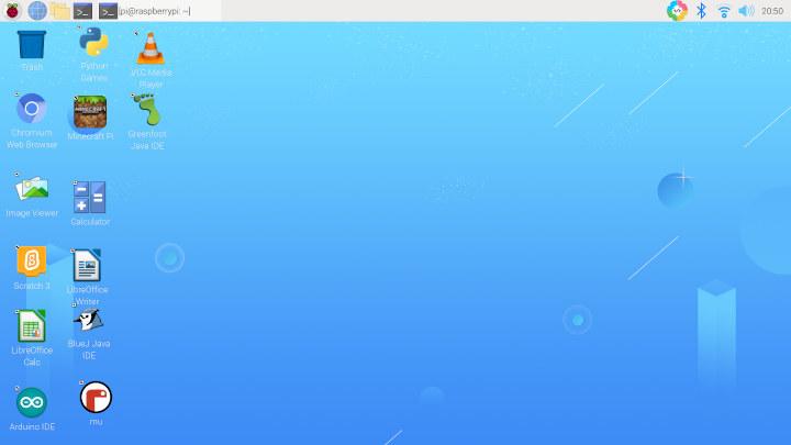 Raspberry Pi OS desktop