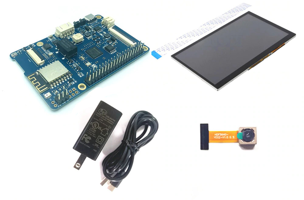 Banana PI BPI-EAI80 Board 7-Inch Touch-Screen OV5640 Camera Module