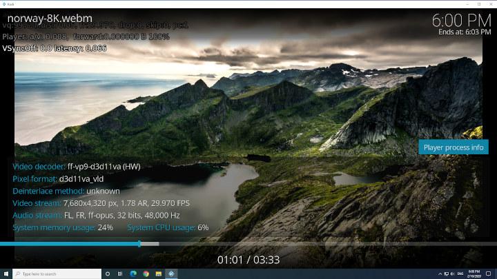 MINISFORUM X35G 8K windows kodi
