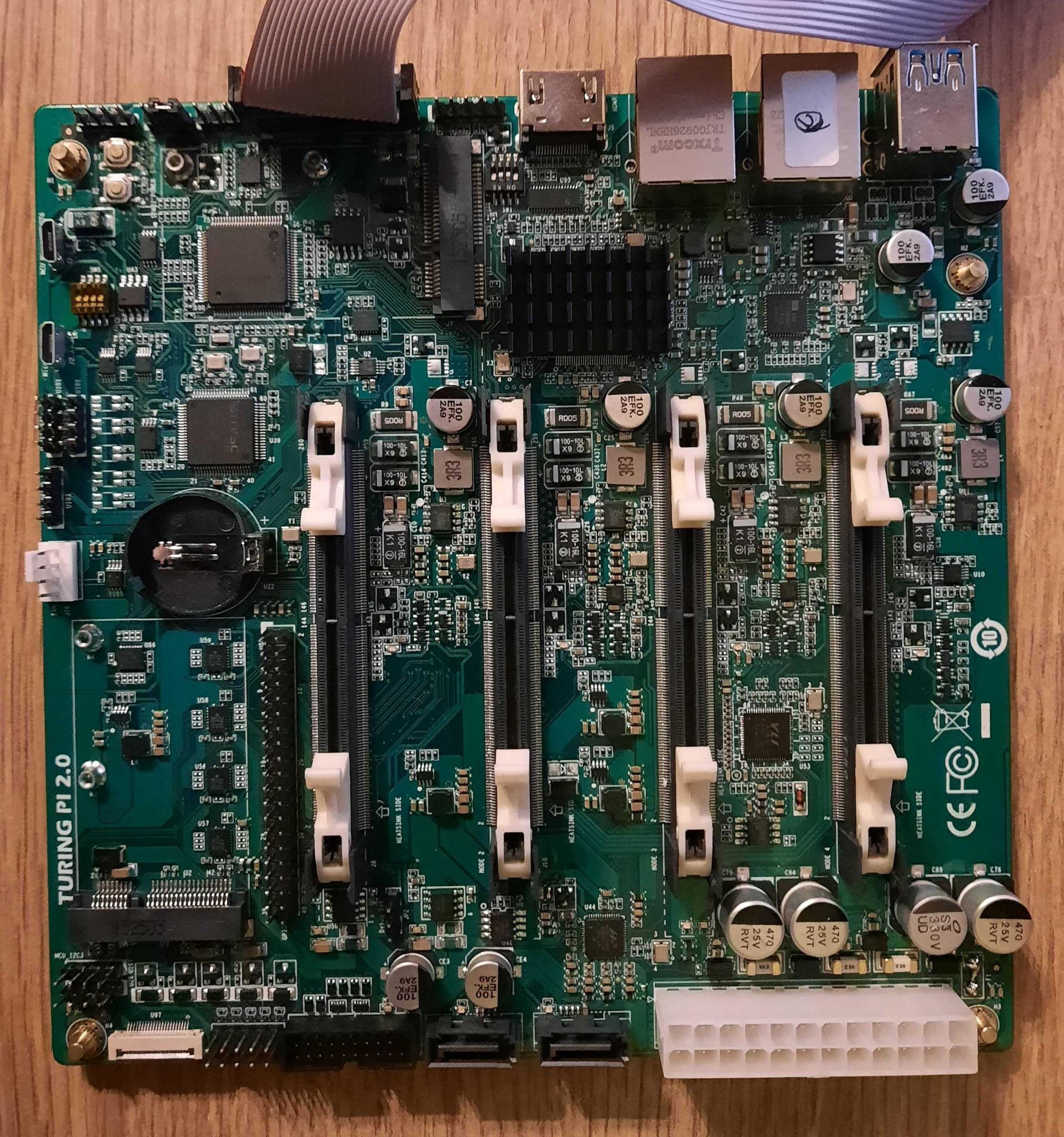 Turing Pi v2 mini-ITX cluster board