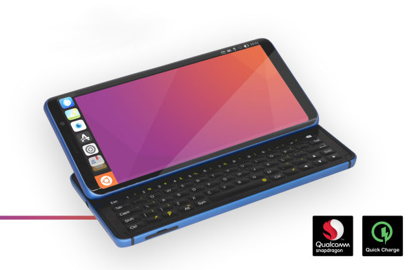 Ubuntu Smartphone with physical keyboard