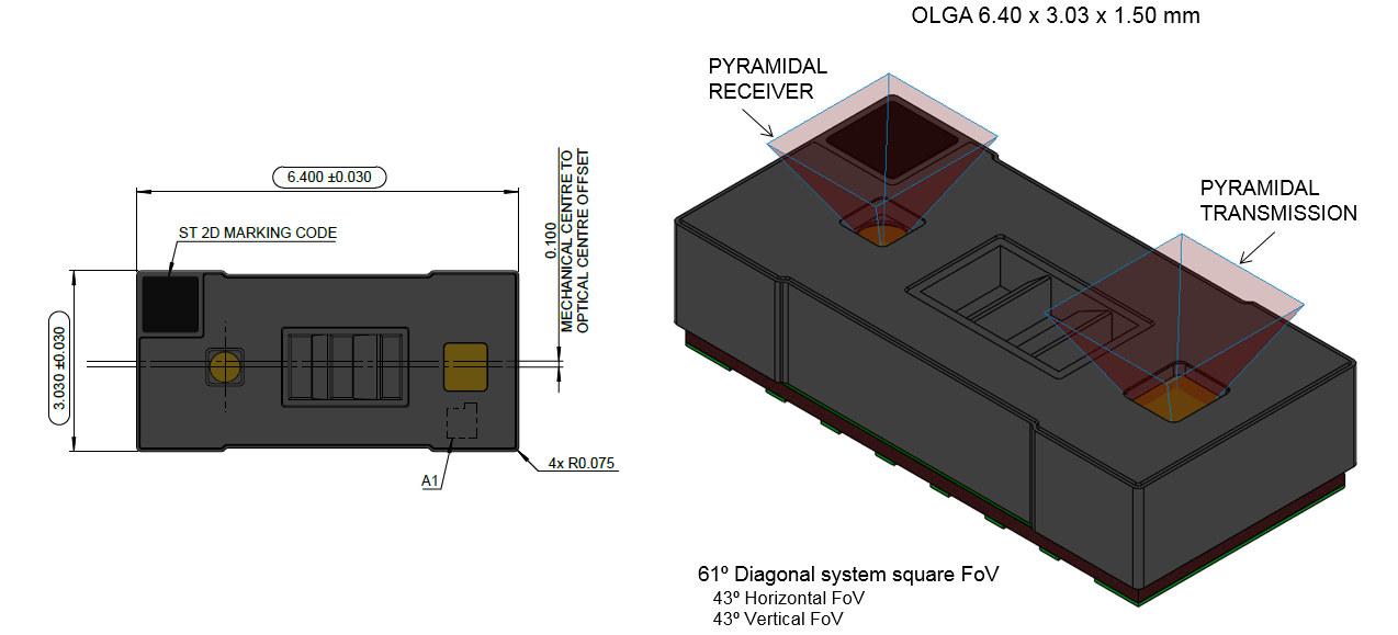 VL53L5 multi-zone ToF Sensor
