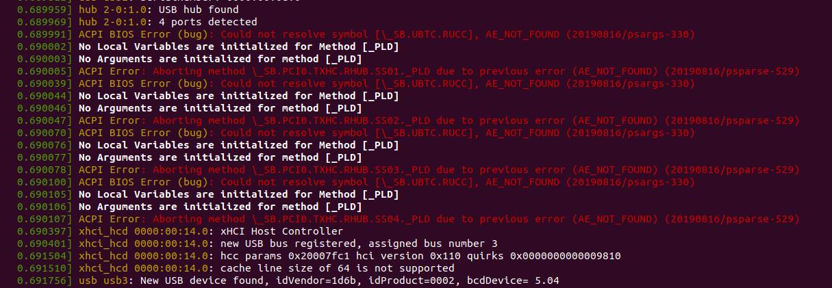 dmesg ACPI BIOS Errors