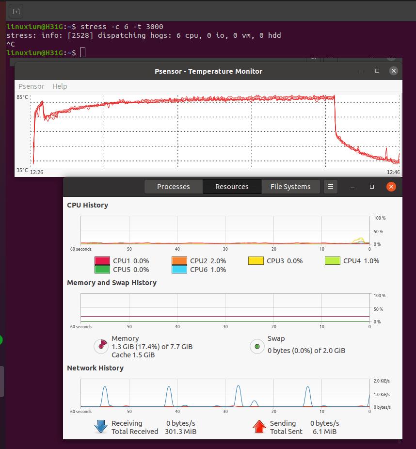 ubuntu coffee lake temperature