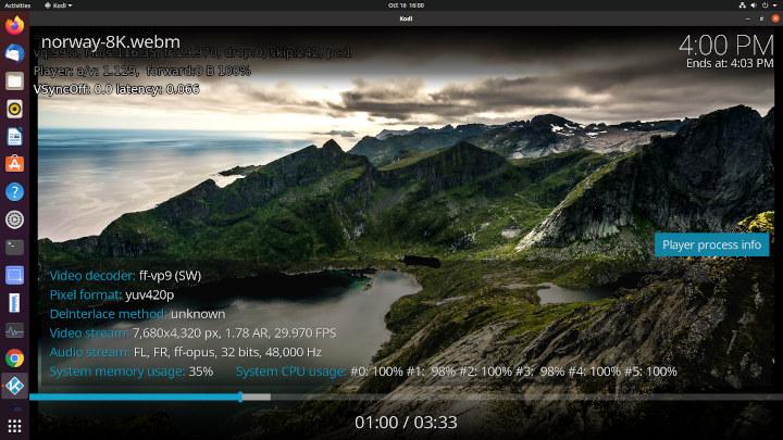 ubuntu kodi 8k 30fps