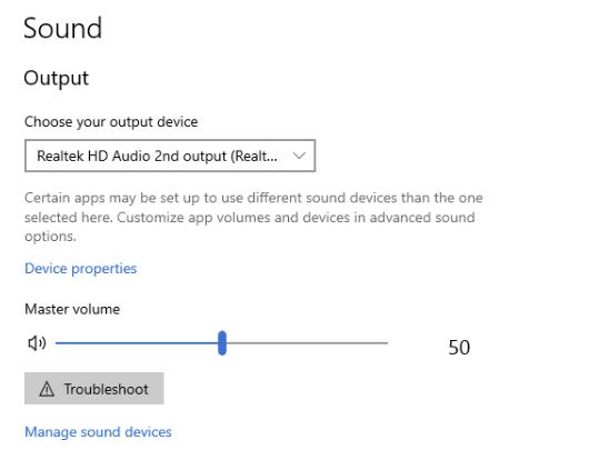 windows audio headphones
