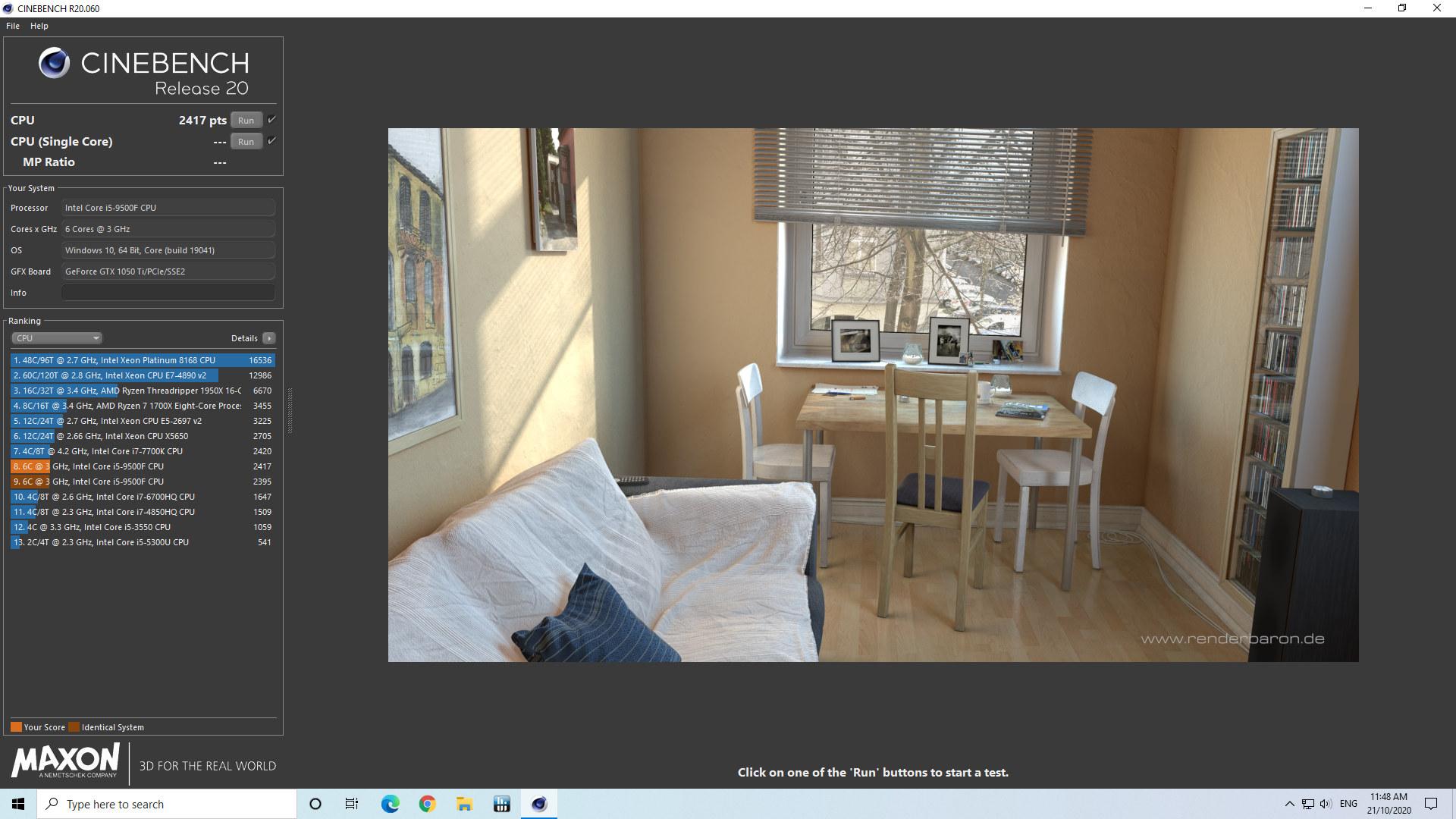 windows cinebench undervolted