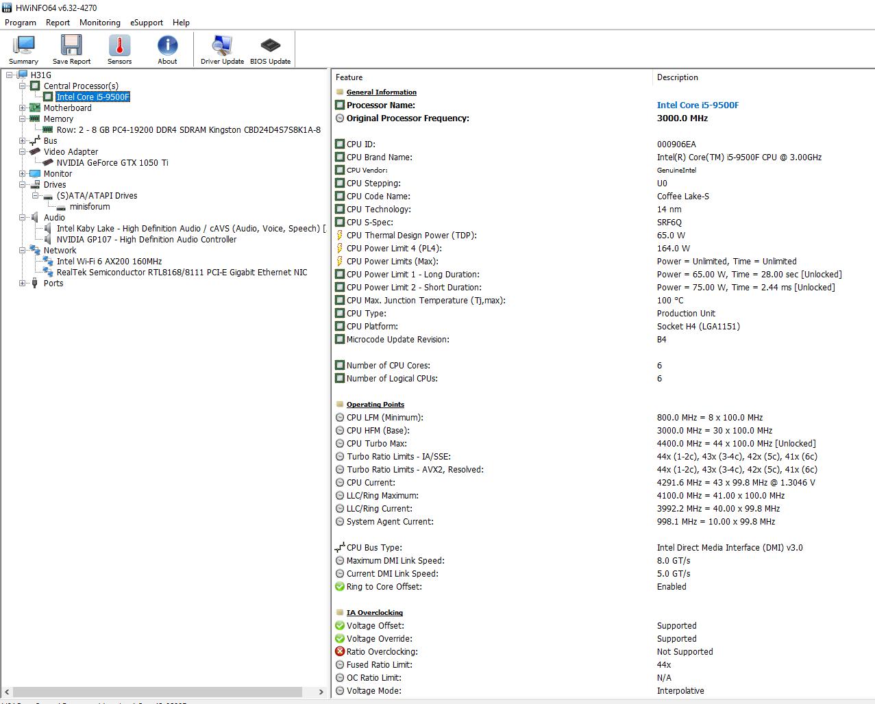 windows configuration hwinfo64 detailed