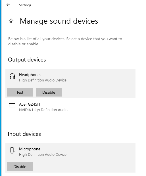 windows front audio out