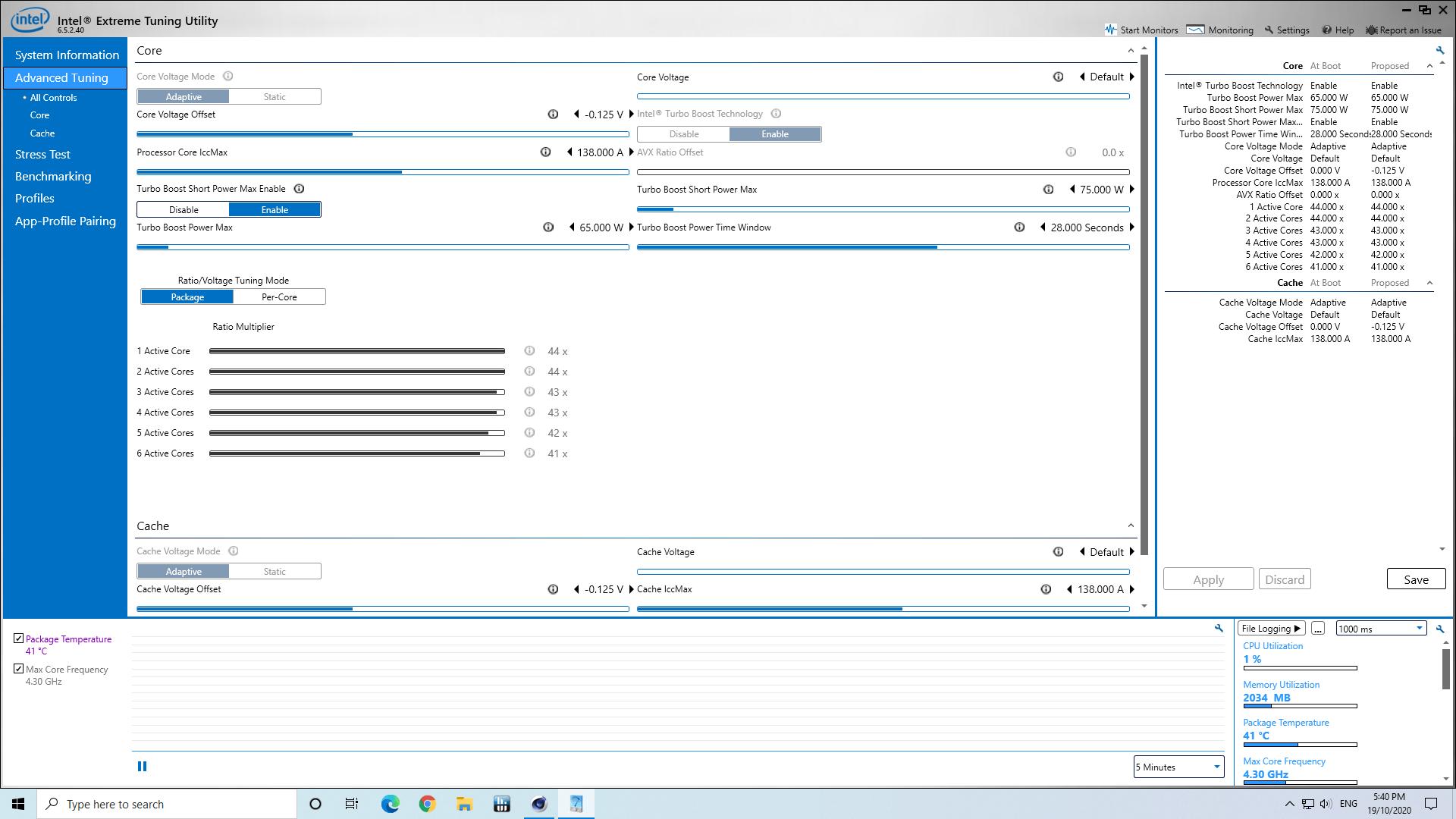 windows intel xtu (extreme tuning utility)