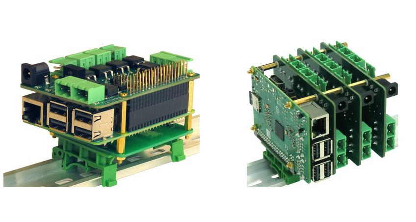 8-MOSFET Raspberry Pi DIN Rail