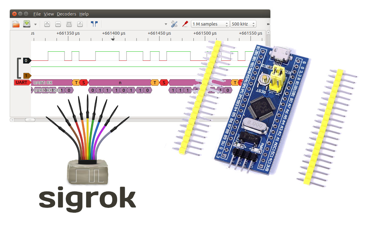 Blue pill STM32 logic analyzer sigrok