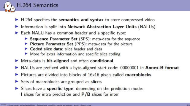 Hantro H1 Hardware Accelerated Video Encoding H.264 Semantics