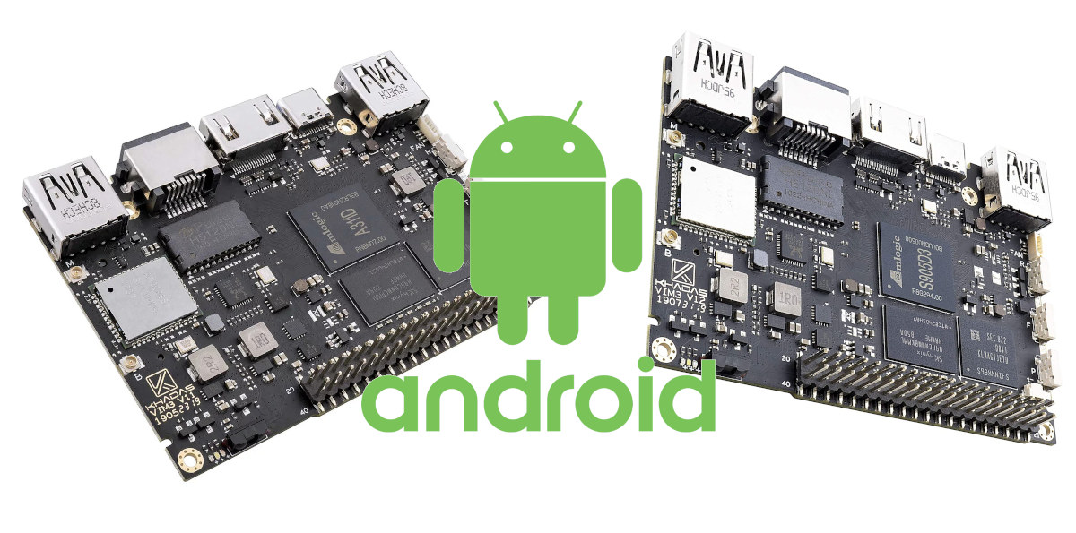 Khadas VIM3 & VIM3L Android Reference Boards