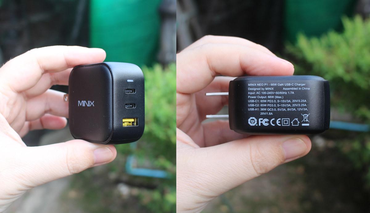 MINIX NEO P1 66W GaN USB-C charger