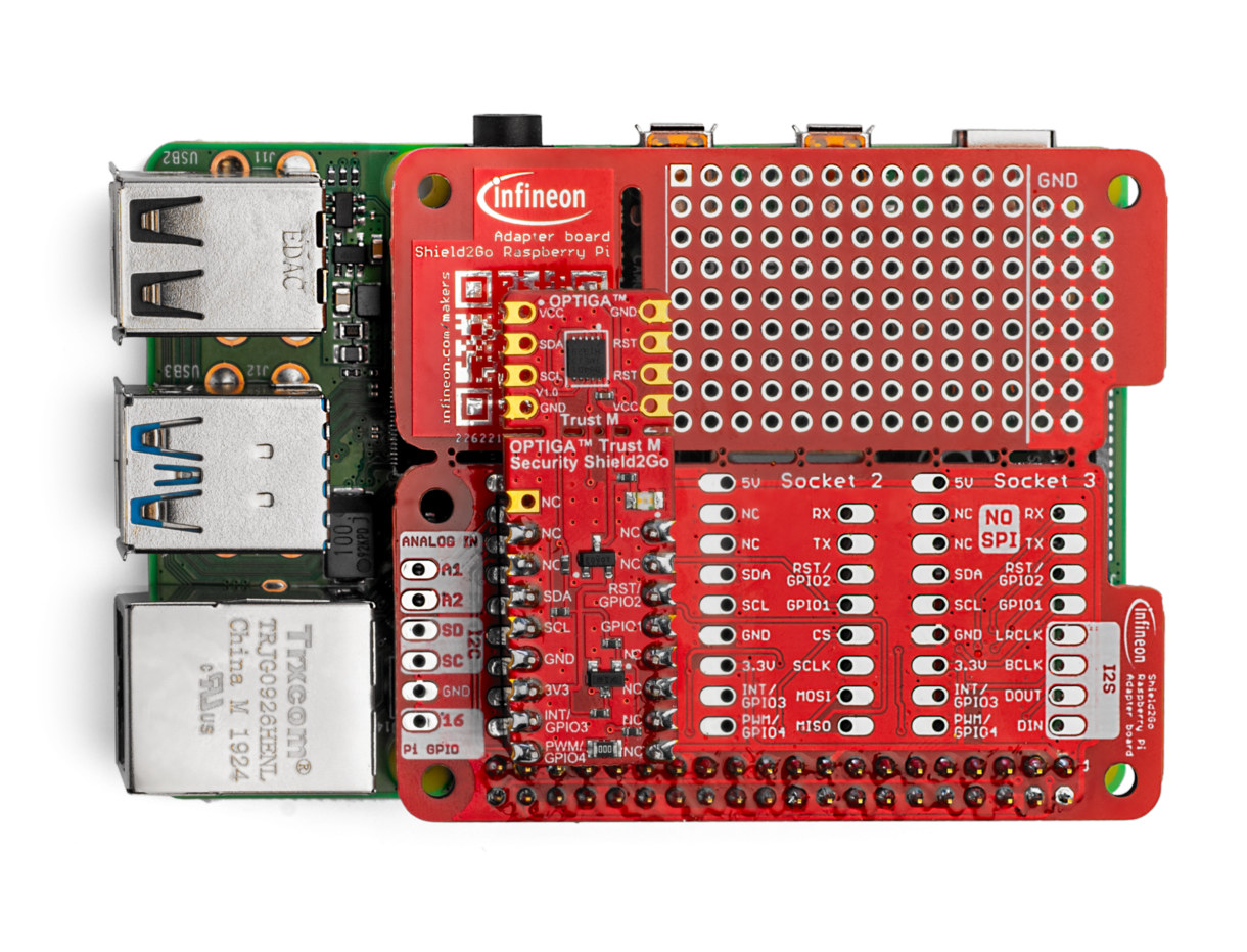 Optiga Trust-M evaluation kit for Raspberry Pi, Connected Home over IP standard