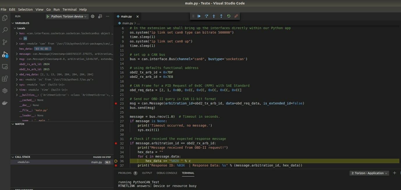 Python Embedded Linux Visual Studio