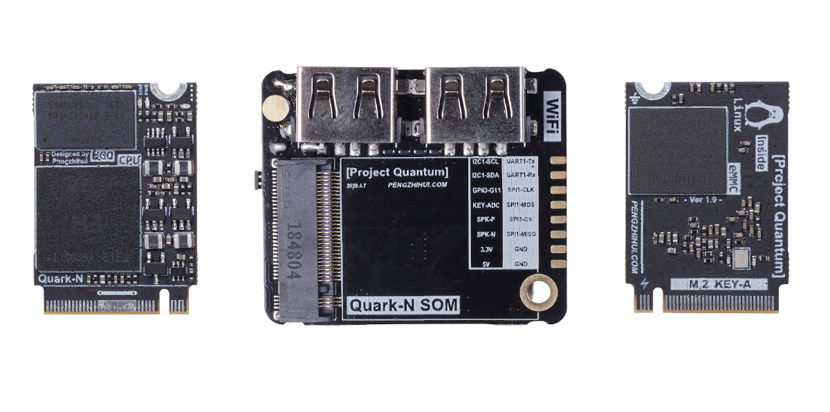 Quark-N Allwinner H3 M.2 SoM